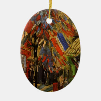 The Fourteenth of July Celebration in Paris Ceramic Oval Decoration