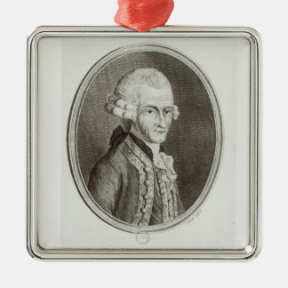 The Fourth Earl of Sandwich Silver-Colored Square Decoration