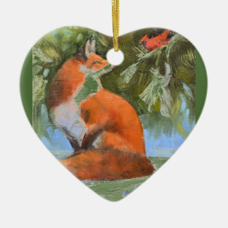 The Fox and the Cardinal Christmas Ornament