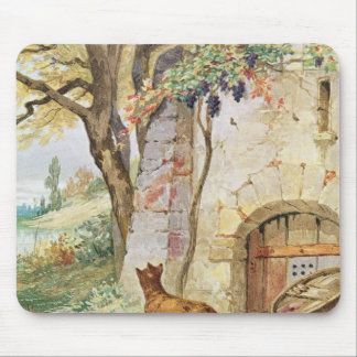 The Fox and the Grapes, illustration for Mouse Mat