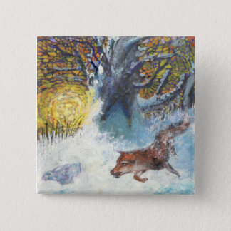 The fox and the rabbit - Wild animal Button