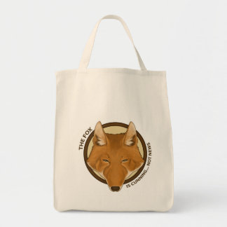 The Fox is Cunning... Not News Organic Tote Bags