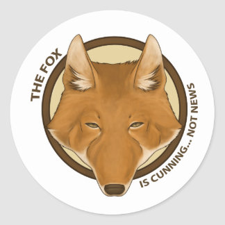 The Fox is Cunning... Not News Stickers