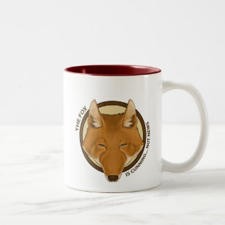 The Fox is Cunning... Not News Two-tone Mug
