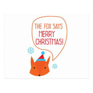 The Fox says Merry Christmas! Postcard