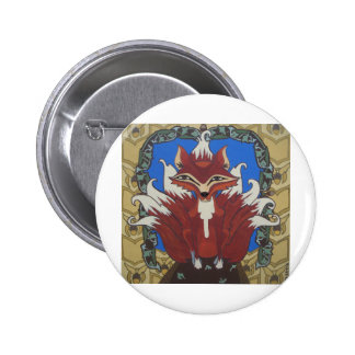 The fox with nine tails 6 cm round badge