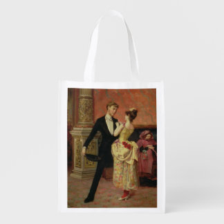 The Foyer of the Lyceum Theatre (oil on canvas) Reusable Grocery Bag