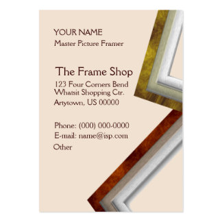 The Frame Shop Pack Of Chubby Business Cards