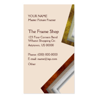 The Frame Shop Pack Of Standard Business Cards