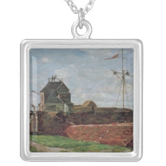 The Francois Ier Tower at le Havre, 1852 Silver Plated Necklace