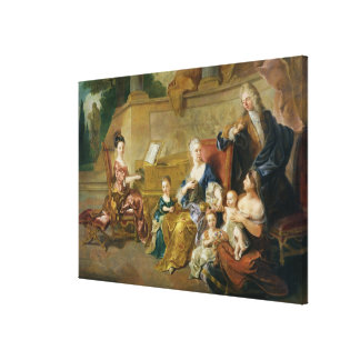 The Franqueville Family, 1711 Canvas Print