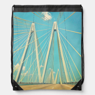 The Fred Hartman Bridge Drawstring Bag