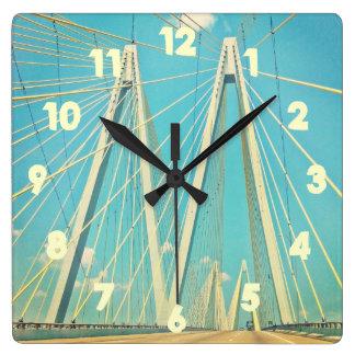The Fred Hartman Bridge Square Wall Clock