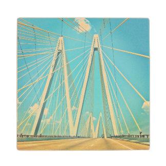 The Fred Hartman Bridge Wood Coaster