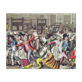 The Freedom of the Press, 1797 Canvas Print