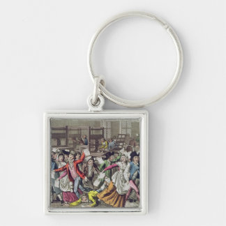 The Freedom of the Press, 1797 Silver-Colored Square Key Ring