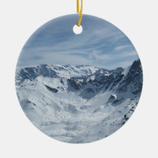 The French Alps Round Ceramic Decoration