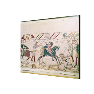 The French are Fighting and Killing Harold's Canvas Print