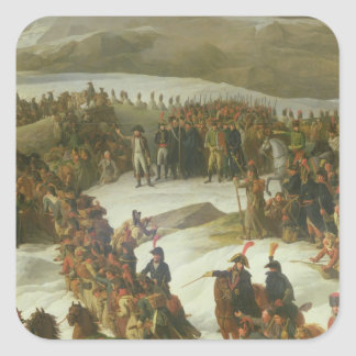 The French Army Crossing the St. Bernard Pass Square Sticker