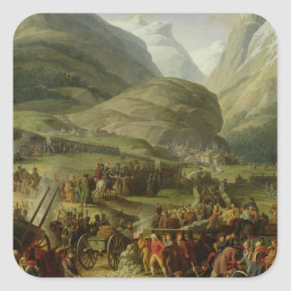 The French Army Travelling St. Bernard Pass Sticker
