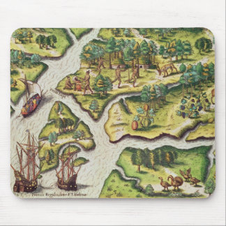 The French Arrive at Port Royal Mouse Mat