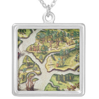 The French Arrive at Port Royal Silver Plated Necklace