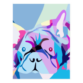 The french Bulldog Postcard