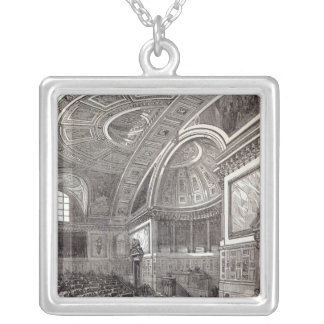 The French Chamber of Peers Silver Plated Necklace