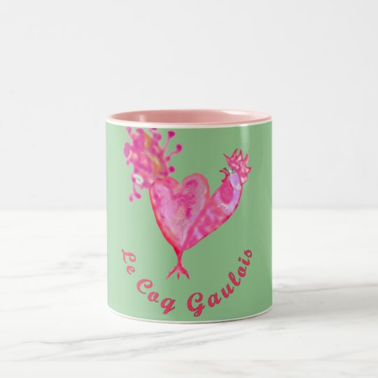 the French cockerel France patriotism go France Two-Tone Coffee Mug