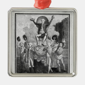 The French Constitution Silver-Colored Square Decoration