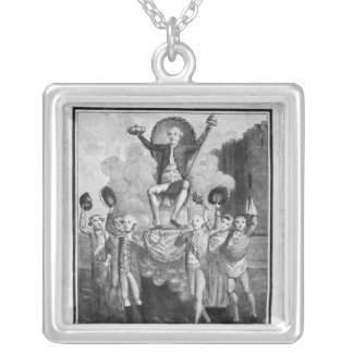 The French Constitution Silver Plated Necklace