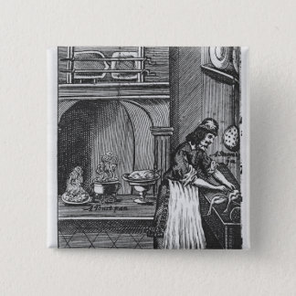 'The French Cook' by La Varenne 15 Cm Square Badge
