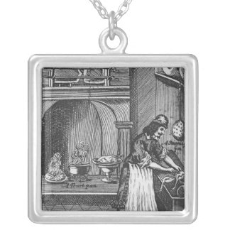 'The French Cook' by La Varenne Silver Plated Necklace