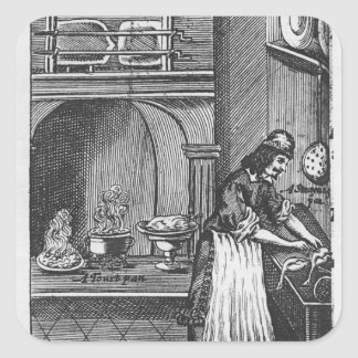 'The French Cook' by La Varenne Square Sticker