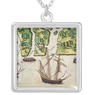 The French Discover Six More Rivers Silver Plated Necklace