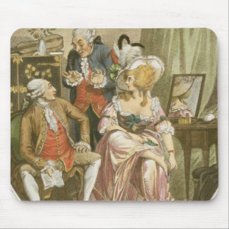 The French Dressing Room, engraved by P.W. Tomkins Mouse Mat