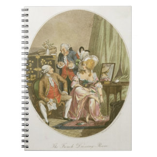 The French Dressing Room, engraved by P.W. Tomkins Notebook