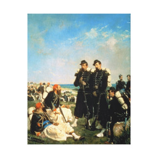 The French Encampment near Sebastopol Canvas Print