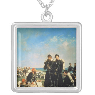 The French Encampment near Sebastopol Silver Plated Necklace