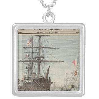 The French Flotilla in Portsmouth Silver Plated Necklace