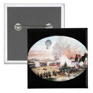 The French Observation Balloon, 15 Cm Square Badge