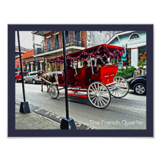 The French Quarter | Buggy Ride in Colour Poster