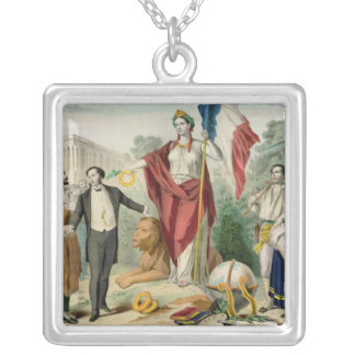 The French Republic Silver Plated Necklace