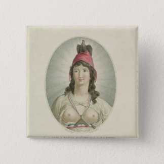 The French Republican, engraved by A. Clement 15 Cm Square Badge