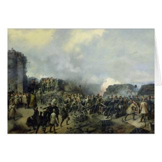 The French-Russian battle at Malakhov Kurgan Greeting Card