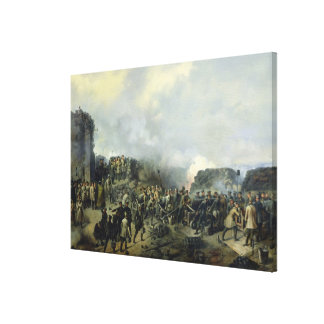 The French-Russian battle at Malakhov Kurgan Gallery Wrap Canvas