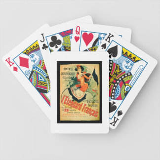'The French Standard', poster advertising the 'Ate Bicycle Playing Cards