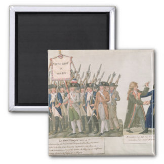 The French Vow 'Long Live Freedom or Die' Square Magnet