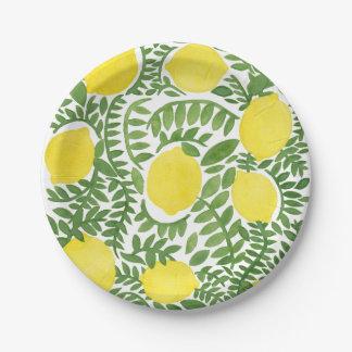 The Fresh Lemon Tree 7 Inch Paper Plate