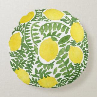 The Fresh Lemon Tree Round Cushion